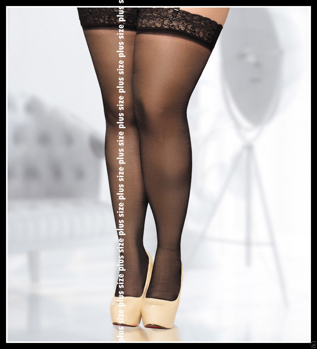 5ca3f6baad0 S l1600. S l1600. Previous. sheer lace stockings Hold Ups plus large size  4XL 5XL UK 14 16 18 EU 46. sheer lace stockings ...