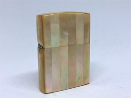 Mega Rare! ZIPPO Limited Model Full Striped Mother of Pearl Shell Case L... - $430.00