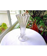 Full Crystal Clear Contemporary Decorative Hearts Centerpiece Vase - $19.80