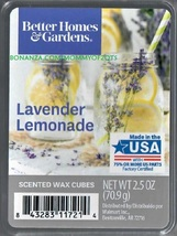 Lavender Lemonade Better Homes and Gardens Scented Wax Cubes Tarts Melts - $3.75
