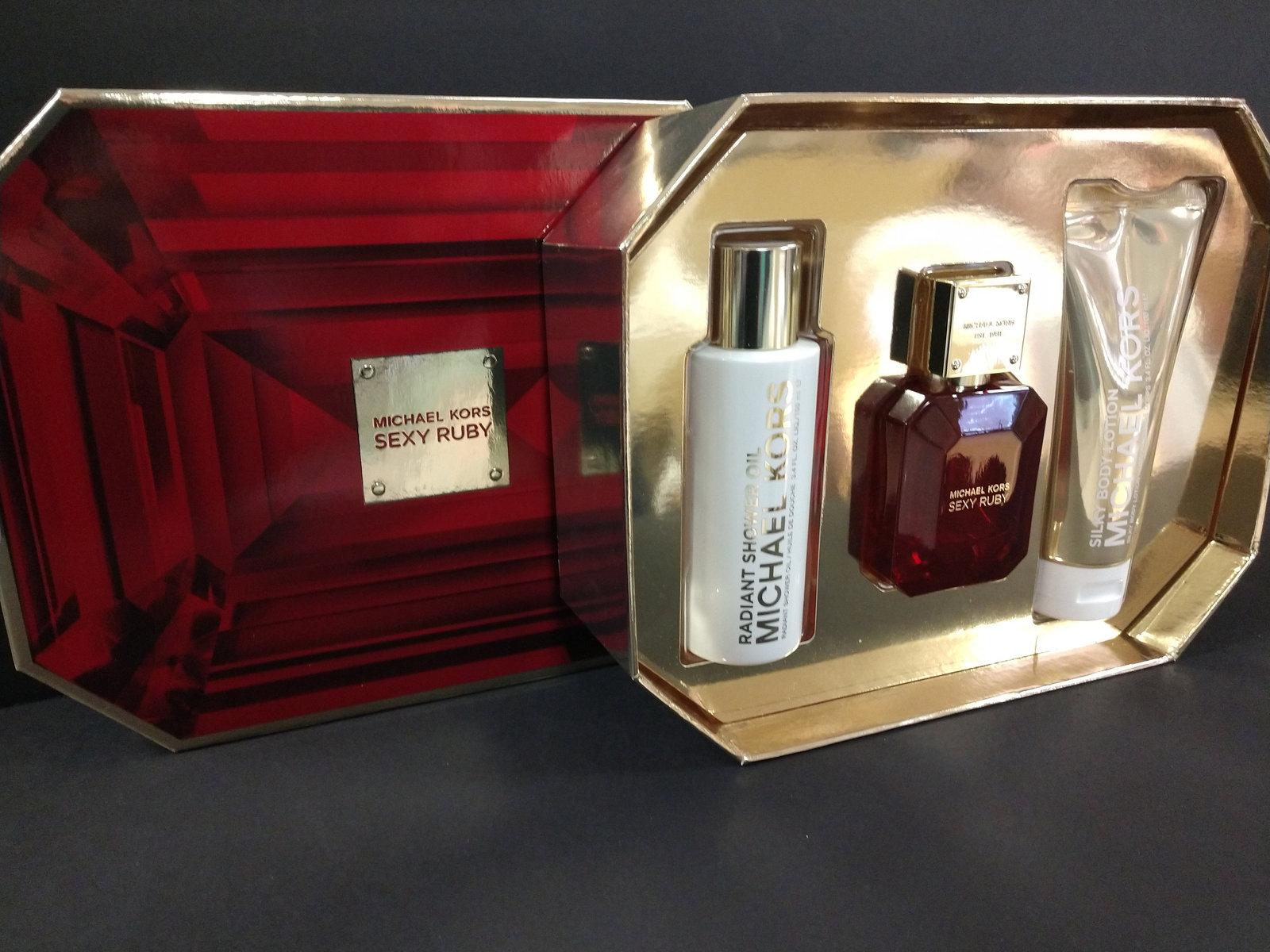 Michael Michael Kors Sexy Ruby Eau De Parfum 3 Piece Gift Set For Women