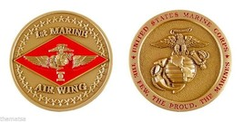 """MARINE CORPS 1ST MARINE AIR WING 1.75"""" CHALLENGE COIN - $16.24"""