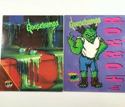 Vintage Goosebumps Lot of 2 Folders New Unpunched 90s Monster Blood & Th... - $14.83