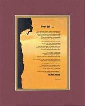 Touching and Heartfelt Poem for Motivations - Don't Quit Poem on 11 x 14 inches  - $16.78