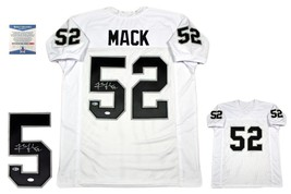 Khalil Mack Autographed SIGNED Custom Jersey - Beckett Authentic - White - $227.69
