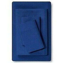 Room Essentials Microfiber Solid Sheet Set, Sudden Sapphire, Full,  brand new  image 2