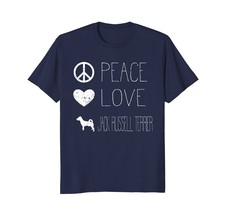 Peace Love And Dogs Shirt Jack Russell Terrier Shirt - $17.99+