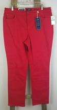 Charter Club Mujer 16 Rojo Lexington Pierna Recta Pantalones Elástico Ba... - $20.80