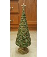Christmas Tree Raised Stencil Gold/Copper/Green Glitter w/Match Heavy Du... - $51.00