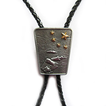 Western Tie Clips Bolo Tie For Men Vintage Nation Native Map Gold Star B... - $9.99