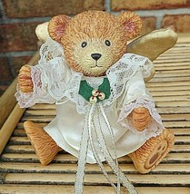 Vintage Angel Bear - Jointed Head- Arms- Legs Move-Gold Wings - RUSS - $11.88