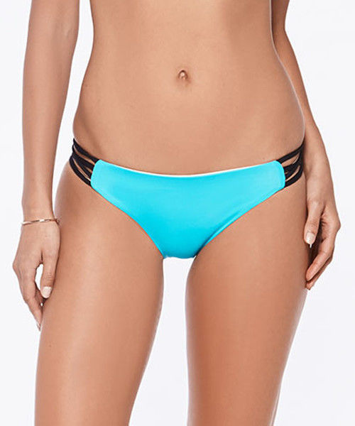 NEW L*Space Wild One Color Block Racer Back Bikini Set Turquoise XS XSmall