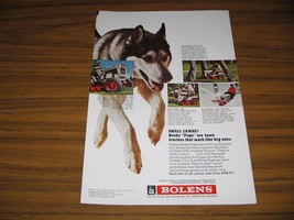 1971 Print Ad Bolens Husky Lawn & Garden Tractors Husky Dog Port Washing... - $10.72