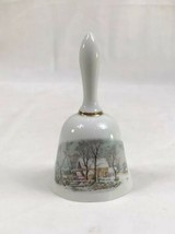 Currier and Ives Ceramic Dinner Bell by AVON 1978 EUC - $4.89