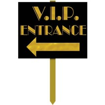VIP Entrance Yard Sign Party Accessory 1 count - $17.33