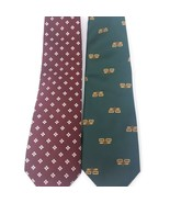 GINO POMPEII 100% Silk Men's Tie Made in Italy Lot of 2 - $13.98