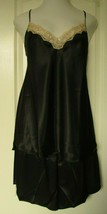Shadowline Satin Camisole and Tap Pant Size 3X Black Style 4506 - $48.46