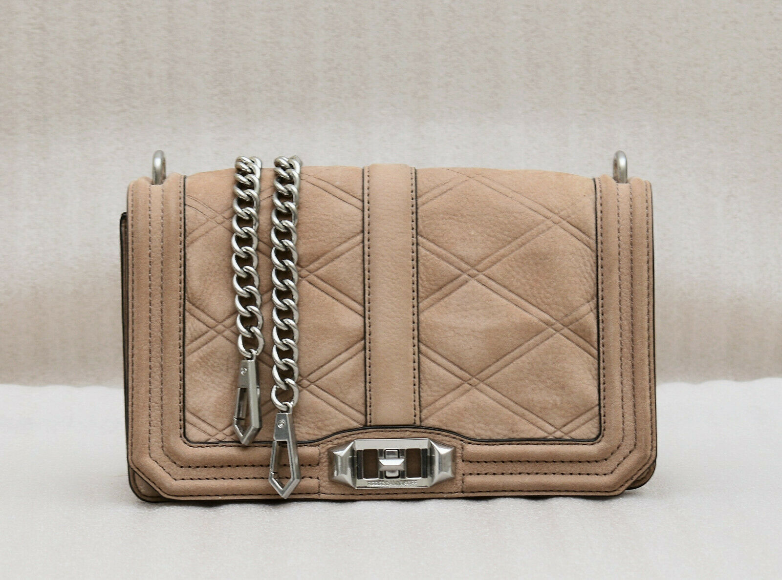Primary image for Rebecca Minkoff Love Tooled Leather Crossbody Bag - Beige ( Retail - $295)