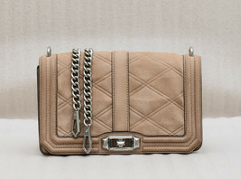 Rebecca Minkoff Love Tooled Leather Crossbody Bag - Beige ( Retail - $295) - $98.01