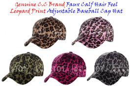 NEW! C.C Faux Calf Hair Feel Leopard Print Adjustable Baseball CC Cap Hat - $14.79