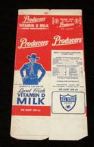 Hopalong Cassidy unused unfolded Producer's Milk box - $15.99