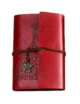 PU Cover Notebook Journal A6 Kraft Brown Paper Blank Sketchbook Butterfl... - $21.97