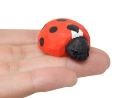 Lady Bug Figurine Statue Red Beetle Patio Miniature Garden Lawn Yard Hom... - £4.97 GBP