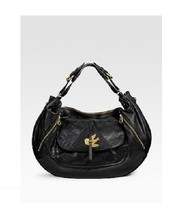 MARC BY MARC JACOBS PETAL TO THE METAL EVIE HOBO BAG Black Leather Bird ... - $287.09