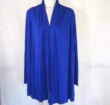 Calvin Klein Open Front Stretch Knit Cardigan CoverUp Women Size M Blue ... - $19.77