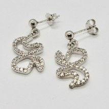 Drop Earrings Silver 925 Wings of Butterfly by Maria Ielpo Made in Italy image 1