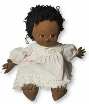 Homemade Cabbage Patch Baby Doll Toy African American Girl Pink Outfit - $69.29