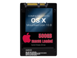 macOS Mac OS X 10.8 Mountain Lion Preloaded on 500GB Solid State Drive - $99.99