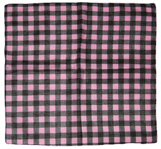 "22""x22"" Pink / Black Plaid Checkered 100% Cotton Bandana - $6.88"
