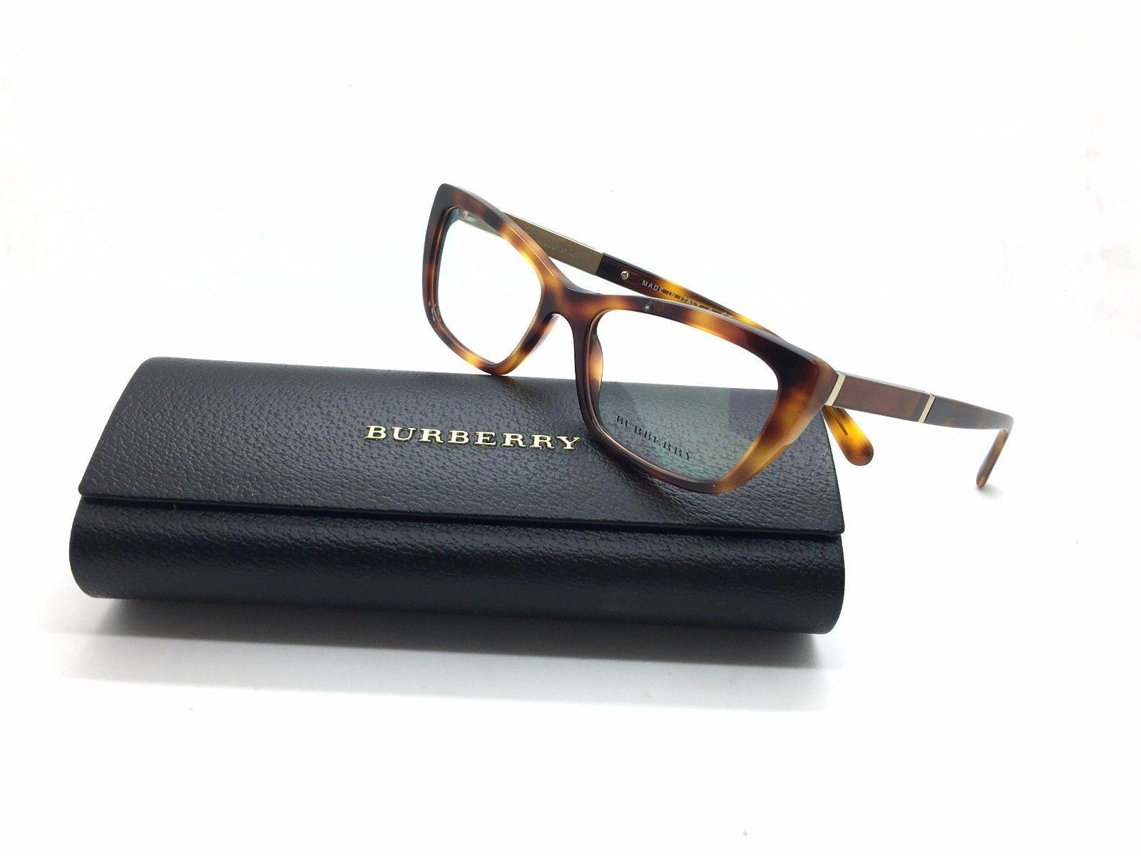 fca8c15b61b 57. 57. Previous. Burberry BE B 2236 3316 Light Havana Plastic Cat Eye  Eyeglasses women 52mm