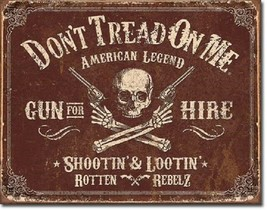 Don't Tread On Me American Flag Gun Hire Military Garage Shop Wall Decor Sign - $15.99