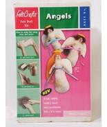 Felt Crafts Angels 100% Lambswool Felt Doll Kit Vintage New  - $24.74