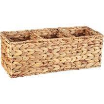 Better Homes & Gardens Woven Water Hyacinth Tank Basket, Natural - $24.74