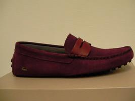Lacoste Herren Freizeit Schuhe Slipper Dunkelrot Größe 8 US Neu mit Karton - $115.38