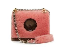 NWT Fendi KAN I F shearling leather small bag; Rtl $2690 - $1,799.99