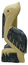 Nautical Decoration Hand Carved/ Painted Pelican Paper Towel Holder (Dk Blue) - $25.29