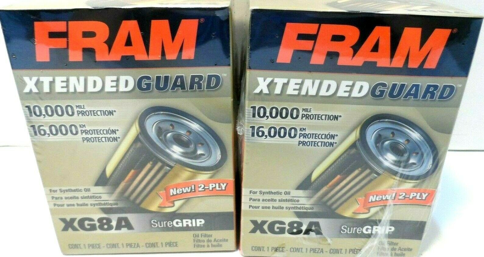 Primary image for (2) Fram XG8A Oil Filter New/Sealed!