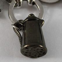 925 STERLING SILVER BRACELET RUTILATED QUARTZ BURNISHED COFFEEPOT TEAPOT PENDANT image 6