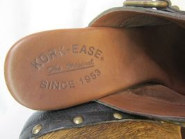 Blue 7 Grain Wood EU Kork Clogs Studded Ease US Heel 38 Wedge FPq65Bwx