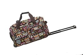 Rockland 22 Inch Rolling Duffle Bag, Owl, One Size - $38.01