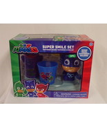NEW SEALED PJ Masks Catboy Super Smile Set Toothbrush + Holder + Cup - $13.99