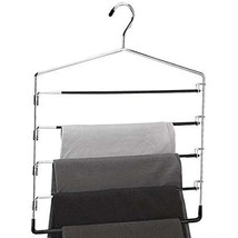 5-Tier Swinging Arm Pant Rack (Stainless Steel)// ( 4 PACK ) - £19.16 GBP