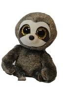 "TY Beanie Boo Dangler Gray Sloth Plush Stuffed Toy Glitter Eyes & Feet 6"" - $9.32"