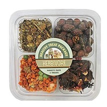 Exotic Nutrition Herbivore Treat Variety Pack - for Guinea Pigs, Rabbits... - $18.99