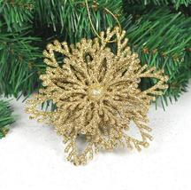 Hot selling 1 pc Christmas decorations 10cm three-dimensional flower pen... - £7.38 GBP+