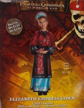 Pirates Caribbean Worlds End 10-12 L Elizabeth Empress Gown Girls Costume - £24.66 GBP